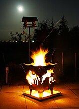 Feuerkorb Stahl Pferd Made in Germany