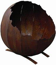 Feuerkugel 52cm Naturrost Feuerschale Feuerkorb