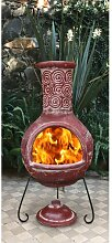 Feuerofen Gardeco Größe: 125 cm H x 50 cm B x 50