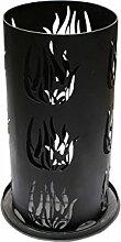 Feuersäule 80 cm Feuerschale Feuerkorb Flamme schwarz ros