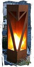 Feuersäule Classic Edelrost Rost Metall