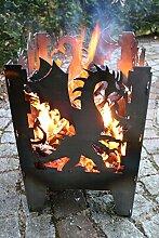 Feuersaeule Drache aus Stahl groß