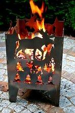 Feuersäule / Feuerkorb ELCH Gr. L aus Stahl - von