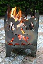 Feuersäule / Feuerkorb KATZE Gr. L aus Stahl -