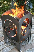 Feuersäule / Feuerkorb YIN UND YANG Gr. XXL aus