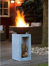 Feuersäule Hartnett Garten Living Farbe: Zement