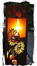 Feuersäule Sonnenblume Edelrost Rost Metall