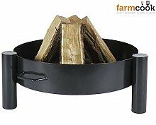 Feuerschale 60 cm farmcook Pan 33 - Klöpperboden, Feuerkorb, Grillschale - lackier
