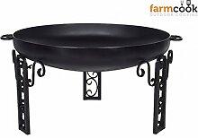 Feuerschale 60 cm farmcook Pan 40 - Klöpperboden,