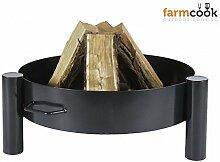 Feuerschale 70 cm farmcook Pan 33 - Klöpperboden,