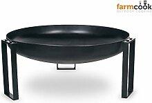 Feuerschale 70 cm farmcook Pan 36 - Klöpperboden, Feuerkorb, Grillschale - lackier