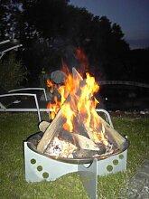 Feuerschale Edelstahl Ø700 x 300 mm, Design 1: