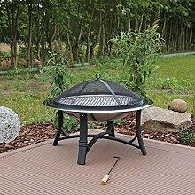Feuerschale Edelstahl FS2 Feuerstelle Garten mit