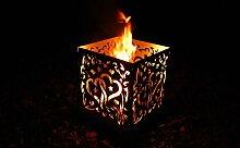 Feuerschale Feuerstelle Feuerkorb Feuertonne Terassenfeuer Wärmestrahler Herz