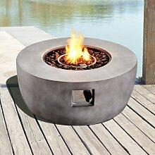 Feuerschale Hooks aus Stein Garten Living