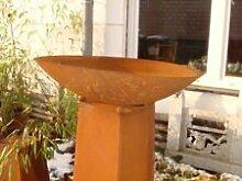 Feuerschale Pflanzschale Kerzen Edelrost Neu 50cm