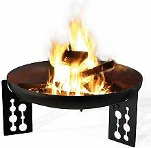 Feuerschale Premium, Ø 100 cm schwarz grundier