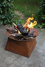 Feuerschale Rost mit sockel FF149