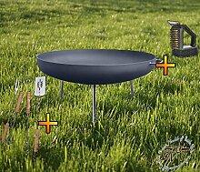 Feuerschale XXL ca. 72cm für Grill, Camping,