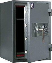 Feuerschutztresor Valberg Garant L22, Einbruchschutz Brandschutz, LFS60P 67x48x46cm grau