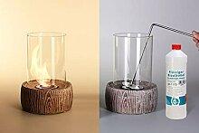 Feuerstelle Stone 2, Tischkamin aus Stein und