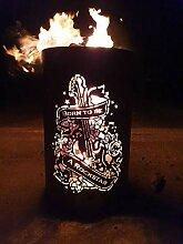 Feuertonne / Feuerkorb mit Motiv  Born to be a