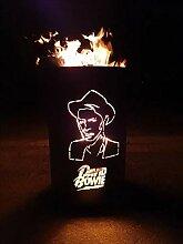 Feuertonne / Feuerkorb mit Motiv  David Bowie