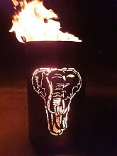 Feuertonne / Feuerkorb mit Motiv  Elefan
