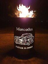 Feuertonne / Feuerkorb mit Motiv  Mercedes- A Star