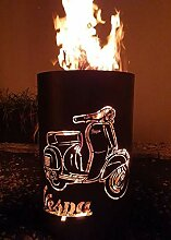 Feuertonne/Feuerkorb mit Motiv Vespa