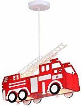 Feuerwehr Auto Hänge Leuchte rot Pendel Lampe