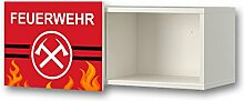 Feuerwehr Möbelsticker / Aufkleber für Kinderzimmer Wandschrank / Wandregal BRIMNES von IKEA - WS11