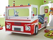 """Feuerwehrbett Spielbett Jugendbett Kinderbett Autobett Bett Kindermöbel """"SOS"""