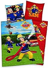 Feuerwehrmann Sam Bettwäsche Kopfkissenbezug 80 x