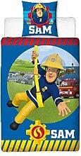 Feuerwehrmann Sam Kinder Wende-Bettwäsche 135 x