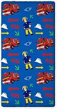 Feuerwehrmann Sam Spannbettuch 90/200 mit Gummizug