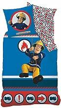 Feuerwehrmann Sam Winter Bettwäsche Blau 135 x
