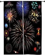 Feuerwerk Snoogg Farben Polyester Drapes Verdunklungsvorhänge 76,2cm W x 152,4cm L (Set von 2)