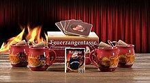 Feuerzangentasse 4er-Set rot Rühmann -
