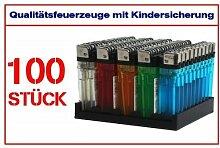 Feuerzeug Einwegfeuerzeug mit Kindersicherung 100 Stck