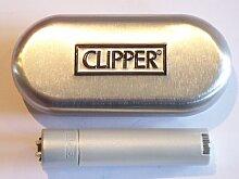 Feuerzeug mit Flint Rute Clipper Metall matt silber NEU Stilrahmen Portraitrahmen Bilderrahmen Photorahmen Zinn In Geschenkbox