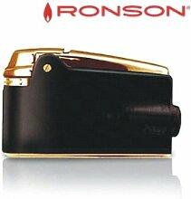 Feuerzeug Ronson Premier Varaflame Schwarz / Gold