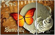 Feuriger Schmetterling und Vollmond'