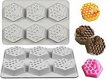 Fewo 2 Stück Bienenenwabenförmchen, 3D