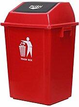 FF Mülleimer rot 60 Liter Kunststoff Mülleimer