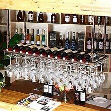 FFJJQAN Flaschenhalter für Weinregal mit