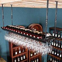 FFJJQAN Weinflaschenhalter,Hängendes Weinregal