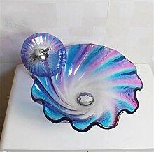 FFJTS Badezimmer-Glaswaschbecken - träumen Sie