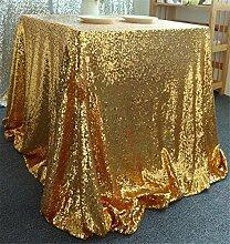 FFJTS Gold Polyester Runde Bankett Abendessen Dekoration Tischdecke , 125