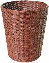 FFLSDR Einfacher Mülleimer aus Bambus-Rattan,